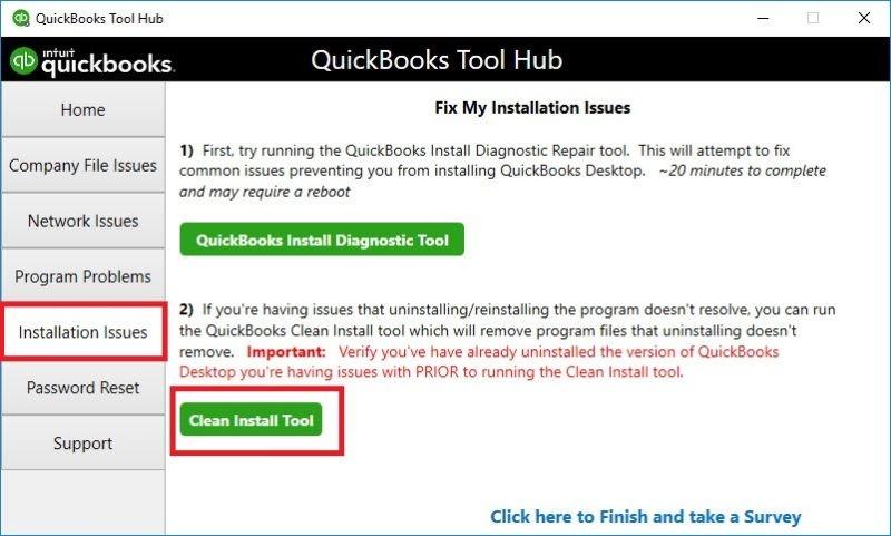 QuickBooks Clean Install Tool