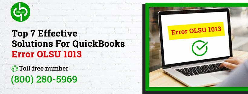 QuickBooks Error OLSU 1013