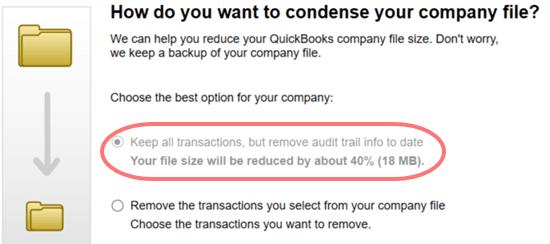 Condense your company file