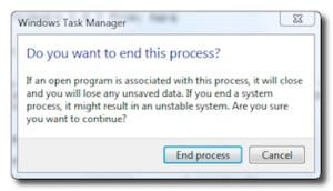 end process