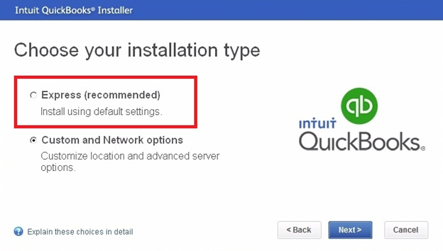 choose your Installation type